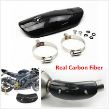 Carbon Fiber ATV Motorcycle Exhaust Middle Link Pipe Heat Shield Cover Protector
