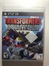 Transformers Devastation PS3 no manual