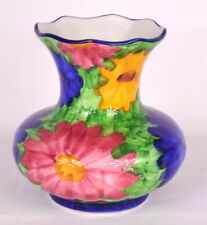 Pintado A Mano Floral Colourful Ceramic Flower Vase -18 cm Tall - Made in Spain