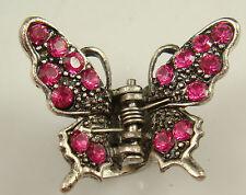 butterfly Hair claw Crystal alloy Rhinestone Hair Clip Jaw Hairpin Fashion bk3a