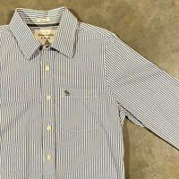 Abercrombie & Fitch A&F Mens Sz Medium Muscle Fit Button Down Shirt Blue Striped