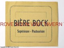 Scarce France Mystery Bock Biere Tavern Trove French Beer Label