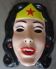 Wonder Woman PVC Costume Mask Rubies Licensed New