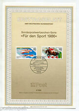 ALLEMAGNE BERLIN, 1986, SPORTS EQUITATION, 2 timbres, 712/713, DOCUMENT 1° JOUR