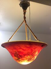Vasque suspension en verre soufflé coloré signé Patrick Crespin XXème