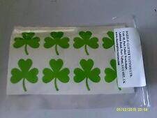 30 X Green Shamrock pegatinas Irlanda Irish St Patrick's Day Gran Diversión Para Niños