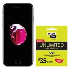 Apple iPhone 7 | Grade A | Straight Talk | Black | 32 GB | 4.7 in Screen