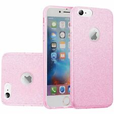 For iPhone X 8 7 6S Plus Glitter Slim Shockproof Phone Case Protector Cover