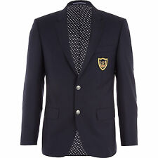 TOMMY HILFIGER Tailored American Icon Blazer Jacket With Crest IT52 UK42 L Wool