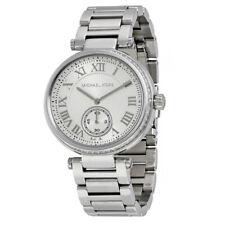 9a4452f760d1 Nuevo Michael Kors MK5866 Skylar Cuarzo Plata Dial Acero Inoxidable Mujer  Reloj