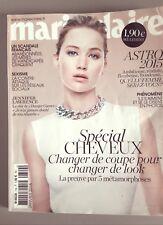 Marie Claire Jennifer Lawrence janvier 2015 spécial cheveux