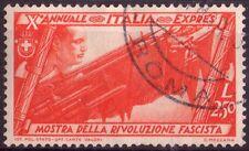 REGNO D'ITALIA - DECENNALE DELLA MARCIA SU ROMA - RARO FRANCOBOLLO DA L. 2,50