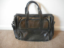 Black Leather Messenger Laptop Breif Case Bag Made in India
