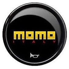 Neuf D'Origine Momo Volant de Voiture Klaxon Poussoir Bouton. Jaune Logo, Rouge