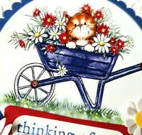 2x Stampin' Up Card Kit Daisy Kitten Cat Wheelbarrow Thinking of You flower