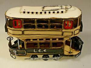 PRL) L.C.C. LONDON COUNTY COUNCIL TRAMWAYS MODELLO LATTA TIN TOY MODEL ÉTAIN ART