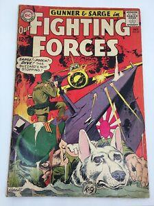 OUR FIGHTING FORCES #87  1964 DC WAR comic Gunner & Sarge Kubert