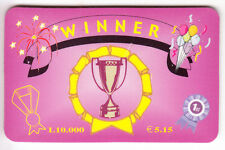 EUROPE  TELECARTE / PHONECARD .. ITALIE 10.000L WINNER ITS COUPE CUP EM