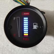 Universal Fuel Level LED Gauge Meter 12V Motorcycle Car Aluminum Gauge Sensor