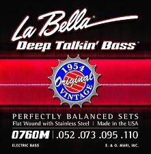 La Bella Bass Strings Deep Talkin' Bass Original Vintage Flat Wound 1954 Motown