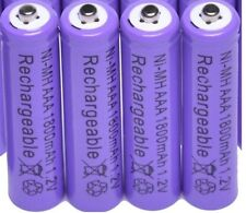 PANASONIC KX-TG RANGE TELEPHONE 4x 1.2V 1800mAh AAA RECHARGEABLE BATTERIES PURPL