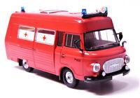 H0 BREKINA Barkas B 1000 Schnelle Medizinische Hilfe SMH 3 Feuerwehr DDR # 30405