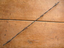 CURTIS 4-POINT HALF ROUND RED BARBS on ONE of TWO LINES  - ANTIQUE BARBED WIRE
