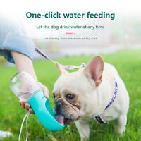 Puppy Dog Cat Pet Water Bottle Cup Drinking Travel Outdoor Portable Feeder