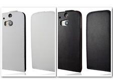 Flip Case für HTC One M8 Handytasche Schutzhülle Etui Kunstleder weiß Schwarz