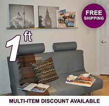 1ft x 3.5in ultraLEDGE Stainless Steel Floating Shelf Picture Ledge Art Display