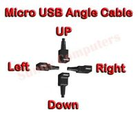 Micro USB High Speed Charging Right Angle 90 Degree Cable Fast Data Sync Cord AU