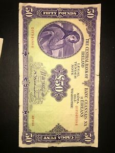 LADY OF LAVERY £50 BANKNOTE 1954 RARE!!