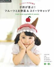 Very Cute! Crochet Fruit, Vegetable & Sweets Cap /Japanese Knitting