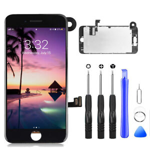 For iPhone 7 Plus Black LCD Screen Replacement Digitizer Full Assembly W/Camera