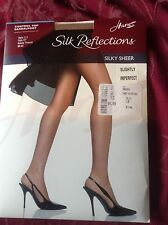 very exiting! Vintage Hanes barely there silk reflections nude pantyhose size Ef