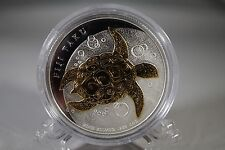 New Zealand Mint 2010 - 1 Oz Silver Coin Gilded Fiji Taku - Gold Plated
