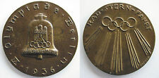 OLYMPIC GAMES JEUX OLYMPIQUES 1936 participants médaille Cyclisme Cycle Medal