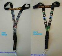 "Disney Trading Pin Neck Lanyard 26"" STAR WARS - Reversible Character/People NEW"