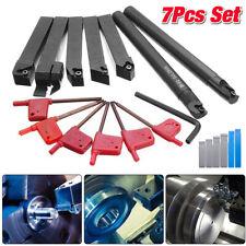 7PCS Set Of 16mm Lathe Turning Tool Holder Boring Bar CNC Tools Lathe Cutting