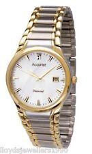 Accurist MB865DIA Para Caballero Diamante Set Vestido Reloj. 50% APAGADO PVP £ 100.00 Reino Unido Vendedor