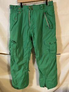 686 Snowboard or Ski Pants Mens Size Large Green