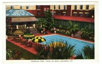 Used Postcard Swimming Pool Hotel De Soto Savannah Georgia GA