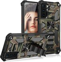 For Samsung Galaxy S21 Hybrid Armor Case Kickstand Heavy Duty Camouflage Cover
