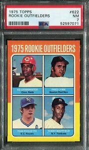 1975 Topps #622 Fred Lynn Rookie! PSA 7 NM