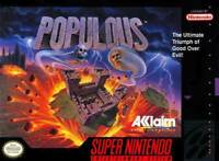Populous Super Nintendo Game SNES Used