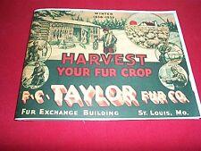 F. C. Taylor 1938-39 Reproduction Trapping Fur Traps Firearms Gun Catalog Folder
