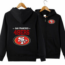 San Francisco 49ers Hoodie jacket Zip Up casual coat Sweatshirt :p