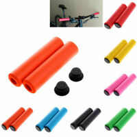 Mountain Bike Scooter Anti-slip Silicone Soft Handle Bar Ends Bicycle Hand Grips