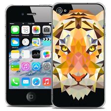 Coque Crystal Rigide iPhone 4/4s Extra Fine Polygon Animals - Tigre