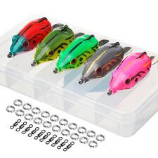 5 Pcs Soft Frog Lure Bass Fishing Hooks Bait Crankbait Tackle 6cm 13g Topwater